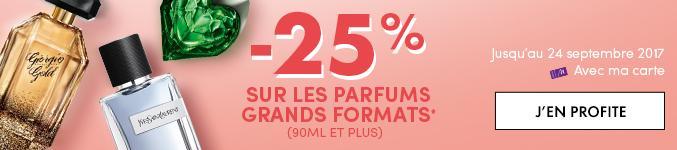 -25% sur les parfums grands formats