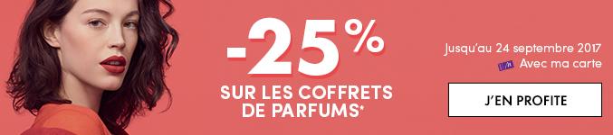 -25% sur les coffrets de parfums