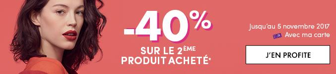-40% sur votre second produit