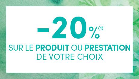 -20% SUR LE PRODUIT DE VOTRE CHOIX TOUTE L'ANNÉE