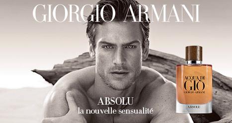 Découvrez en avant-première Acqua Di Gio Absolu la nouveauté eau de parfum homme de Giorgio Armani