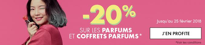 Pour la Saint Valentin : -20% sur les parfums et coffrets de parfum