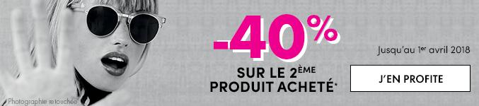 -40% sur le second produit