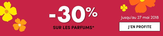-30% sur les parfums*