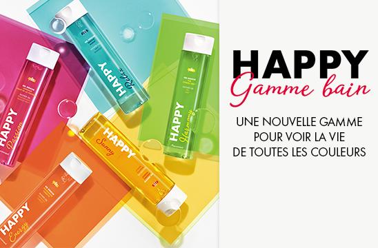 Happy Gamme Bain Marionnaud - Une nouvelle gamme pour voir la vie de toutes les couleurs