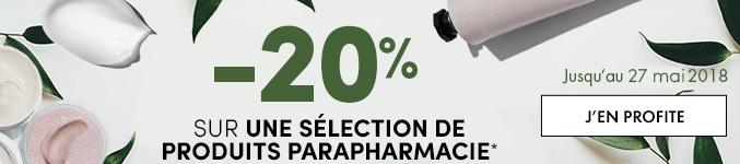 -20% sur une sélection de produits Parapharmacie