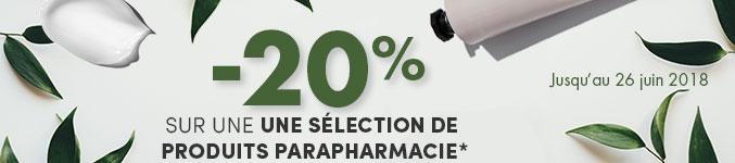 -20% sur une une sélection de produits parapharmacie*