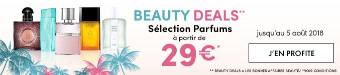 Beauty Deals - Sélections Parfums à partir de 29€ - jusqu'au 5 août 2018