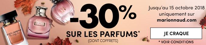 -30% sur les parfums et les coffrets