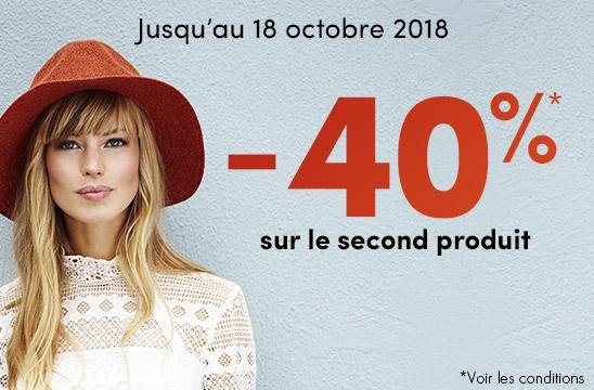 Célébrez l'automne -40% sur le 2nd produit