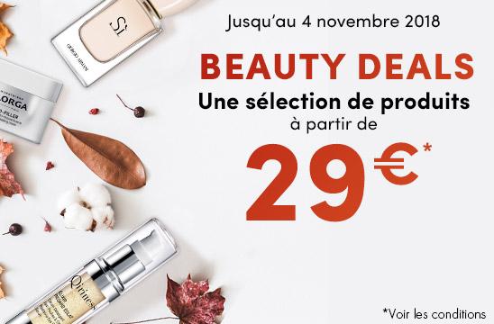Beauty deals / une sélection de produit à partir de 29€